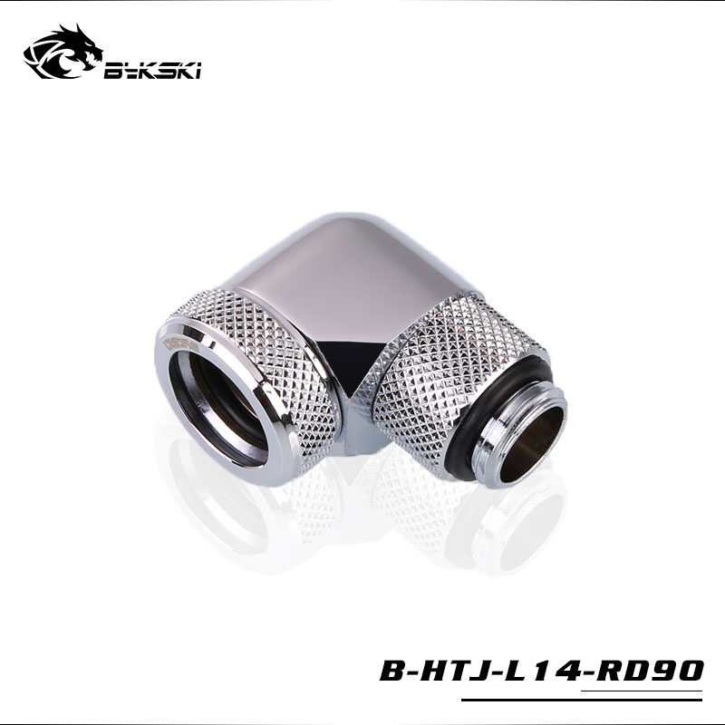 BYKSKI 90 Degree OD14mm Hard tube rotary fitting hand compression fitting G1/4'' pipe use for outside 14mm acrylic PETG tube цена
