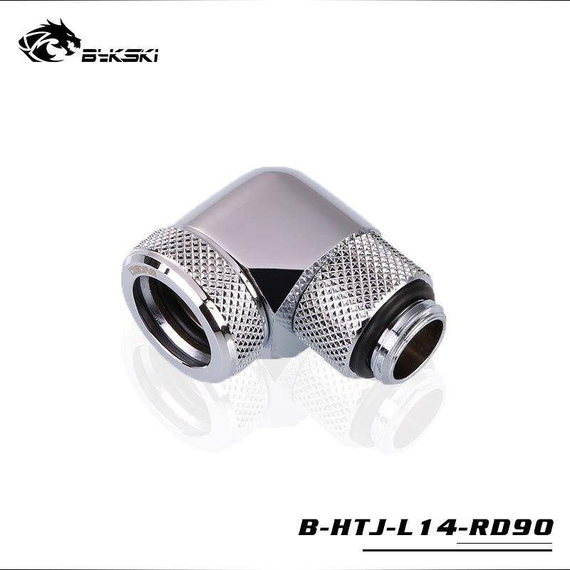 Uso da tubulação do encaixe g1/4 use use para fora o tubo acrílico de petg de 14mm do encaixe giratório da mão do tubo duro de od14mm de bykski 90