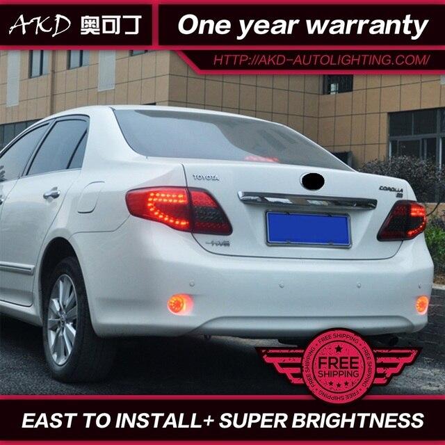 Akd Car Styling For Toyota Corolla Tail Lights 2007 2010 Altis Led Light Rear Lamp Drl Brake Park Signal