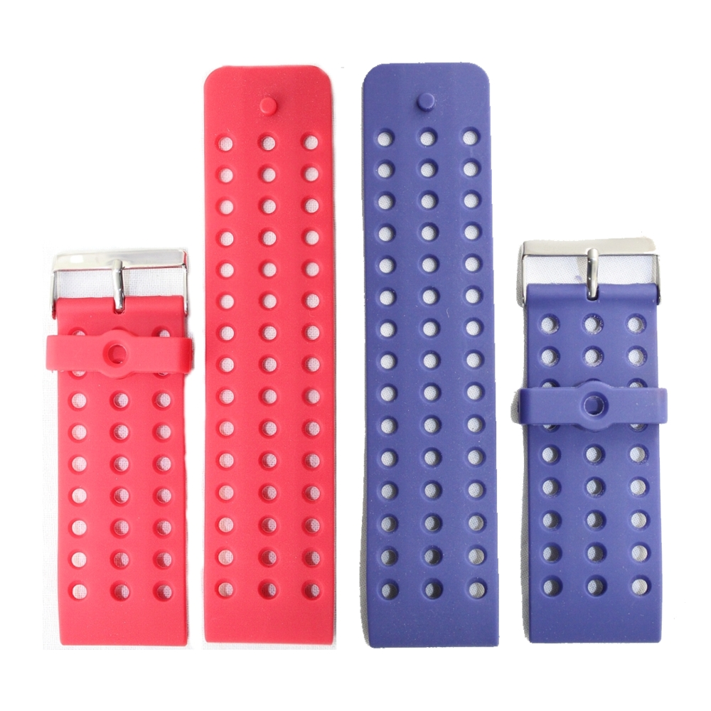 30mm Hole Wide Water Resistant Replacement Sporty Red Plastic Watch Band Red Blue color Watch Band Straps WB1024