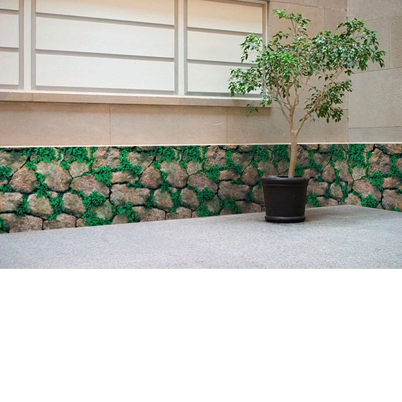3D Wall Paper wall brick pattern self adhesive Brick Stone Moss Rustic Effect Wall Covering Sticker Bedroom Home Decor 45 200cm in Wall Stickers from Home Garden