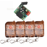 C 220V 1CH 10A Relay Receiver Transmitter Mini Size Switches Light Lamp LED Power Wireless Controller