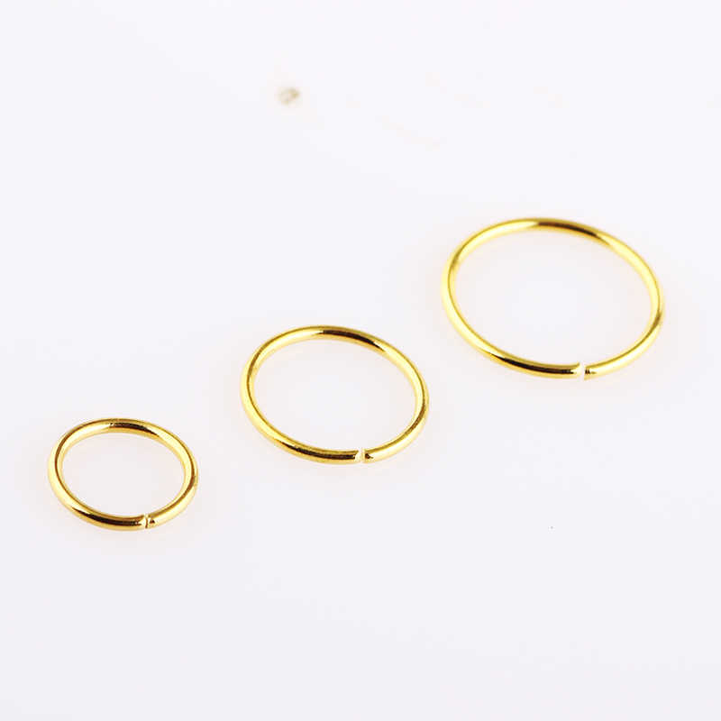 JUNLOWPY 20 גרם מחץ אופנה לנשים Faux טבעת בציר חישוק האף קליפ גוף תכשיטי גוף פירסינג Tragus עגיל המעגל גבות