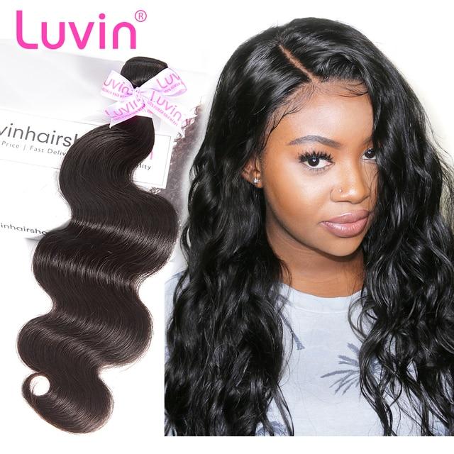Luvin Brazilian Hair Weave Bundles 100 Human Hair Body Wave Remy