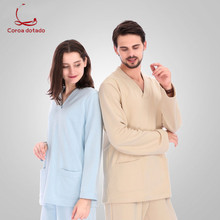 Hospital gown long sleeve split body oral operating room nursing gown isolation suit