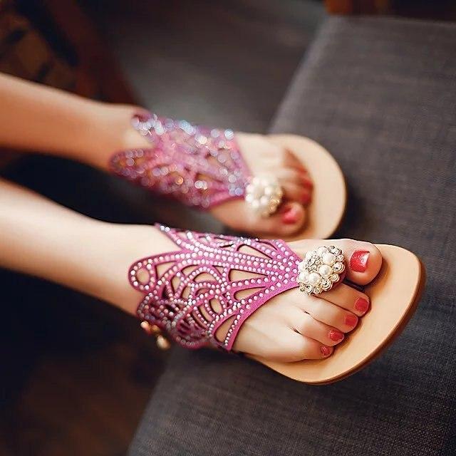 fashion summer shoes women low heels party office lady sandals women 4