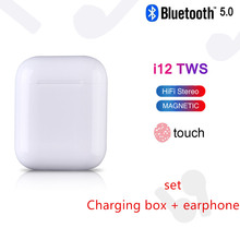 wireless Headphones bluetooth Headset i12 tws 2019 Mini Wireless Earphones 3D Stereo Earbuds for All Smart Phone iphone Samsung