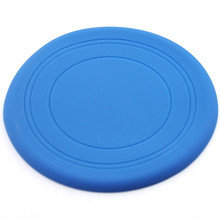 Perfect Silicone Pet Dog Flying Discs Tooth Resistant Training Fetch Toy Great Play Frisbee pet toys Outdoor Disc Chew Toy