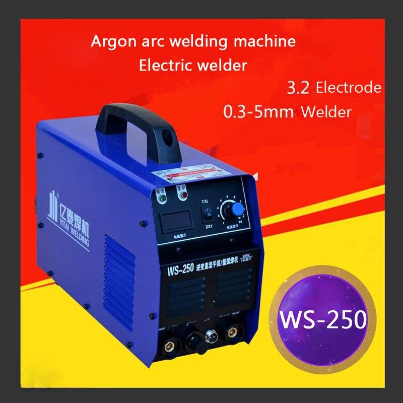 WS-250 220V falownik Dc ze stali nierdzewnej ręcznie spawania argon łukowy SPAWARKA 0.3-5mm spawarka elektryczna maszyna 1PC