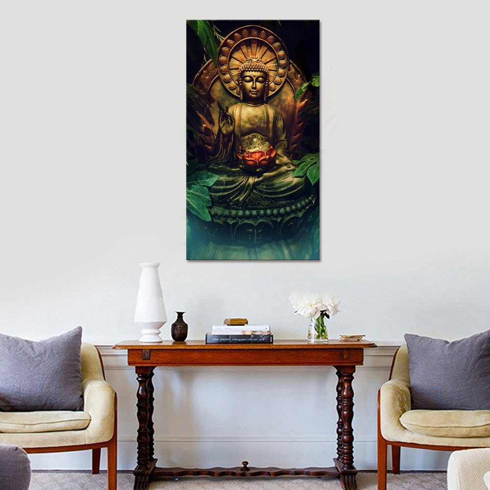 DIY Modern Buddha Canvas Wall Art,Buddha Painting Picture Prints ...