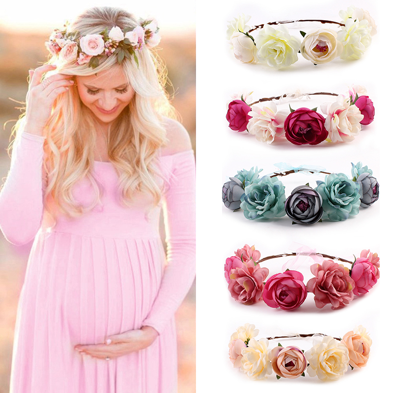 Women White Red Skirt Maternity Photography Props Elegant Pregnancy Clothes Maternity Dresses Photo Shoot Clothing