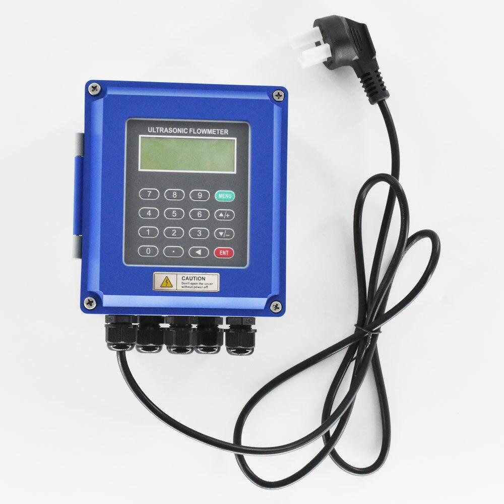 Ultrasone Vloeistofstroom Meter RS485 Modbus Nieuwe TUF-2000B Muur Gemonteerde Digitale Flowmeter DN50-700mm Voor Industriële Controle