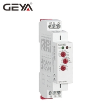 Free Shipping GEYA GRT8-M 16A Multifunction Timer Relay with 10 Function Choices AC DC 12V 24V 220V 230V Time Relay стоимость