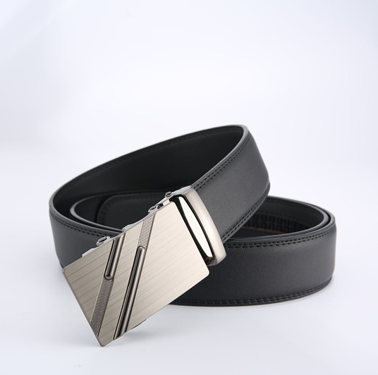 Leather   Belt   for Men Luxury Brand Fashion Automatic Buckle Ratchet   Belts   Comfort Click Leather   Belt   Male Gift