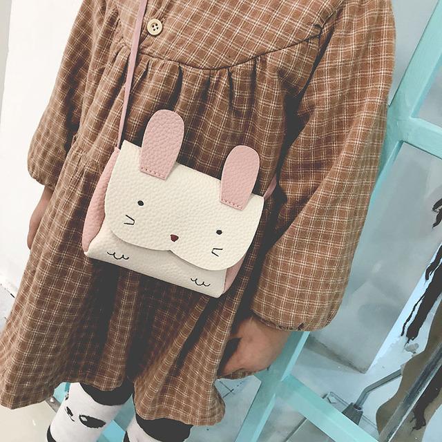 Mini Fashion Shoulder Bag girl bag Plush Backpacks Animals Rabbit Cute Wallets Bags
