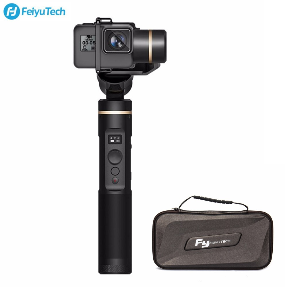 FeiyuTech Feiyu G6 Handheld Gimbal Stabilizer for Action Camera Wifi +BlueTooth Screen Elevation Angle For Gopro Hero 6 5 RX0 feiyutech g6 gimbal feiyu action camera wifi blue tooth oled screen angle for hero 6 5 4 rx0 with mini tripod for gift