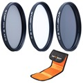 K&F Concept 52mm CPL Polarizer UV ND4 Filter Kit For Nikon D3300 D5300 Nikkor AF-S 18-55mm F3.5-5.6G VRD Camera Lens Filter