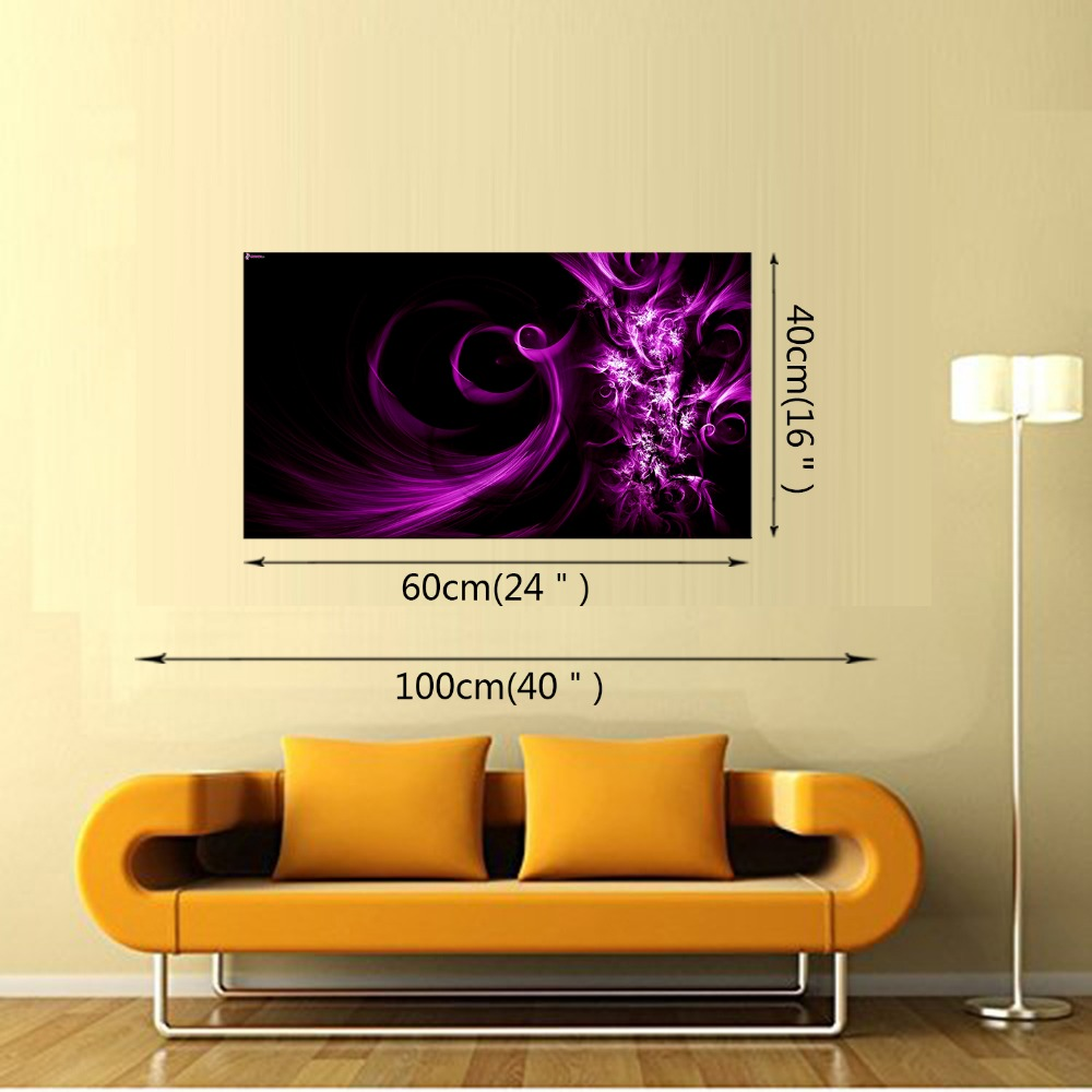1 Panel Free Shipping Abstract purple smoke Modern Home Wall Decor ...