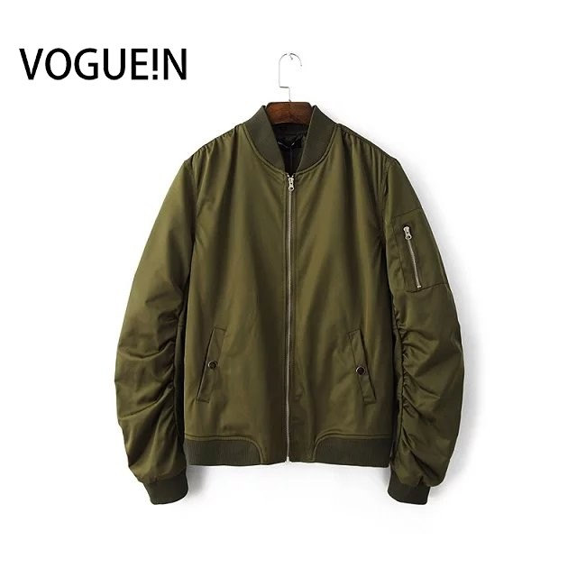 VOGUE!N New Women Men Spring Autumn Long Sleeve   Basic     Jacket   Casual Bomber   Jacket   Coat 4 Colors