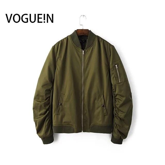 VOGUE!N New Women Men Spring Autumn Long Sleeve   Basic     Jacket   Casual Bomber   Jacket   Coat 4 Colors