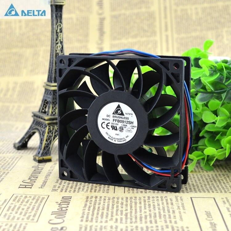 Delta 92*92*25mm FFB0912SH original conector dual de motor 9025 12 V 1.04A