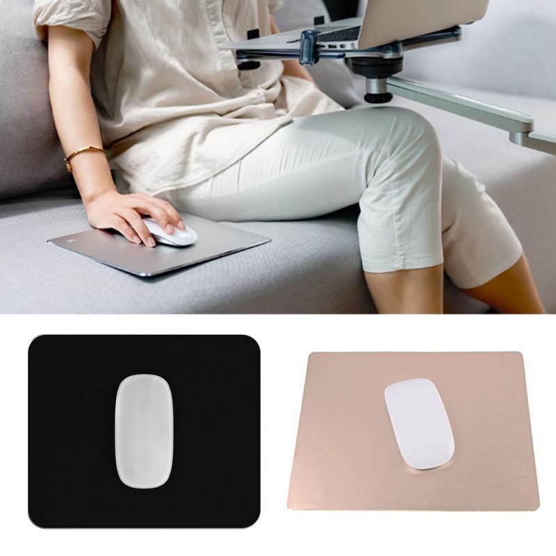 100% alüminyum Metal mouse pad 18*22 cm * 3mm, 202*246*3mm, lüks Basit Ince Alüminyum bilgisayar fare altlığı Buzlu Mat