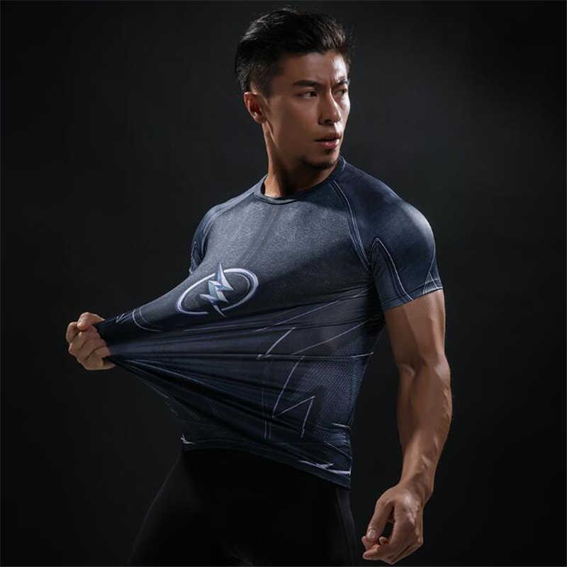 Мужская 2019 футболка с короткими рукавами для фитнеса Футболка Мужская супер герой Каратель 3D компрессионная Футболка мужская футболка для бега спортивные топы Рашгард