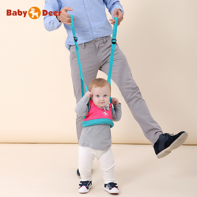 BabyDeer bebé línea de aprendizaje con la marcha del niño con los niños respirables del verano correa del niño del bebé de doble propósito