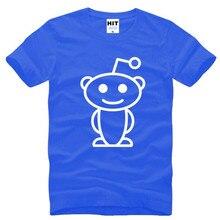 cecb3ee9f Cute Reddit Aliens Print T Shirt Men Short Sleeve O-Neck Cotton Man T-