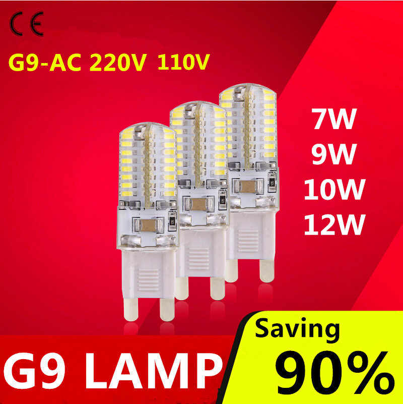 2019 hot sale LED Bulb  G4 G9 AC110V 220V  LED lamp 7W 9W 12W Corn Light   360 Degree Replace Halogen Lamp free shipping