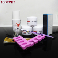 FREESHIPPING Full Set DIY Acrylic Nail Kit With Acrylic Powder Liquid Cup Pen Block Wholesale
