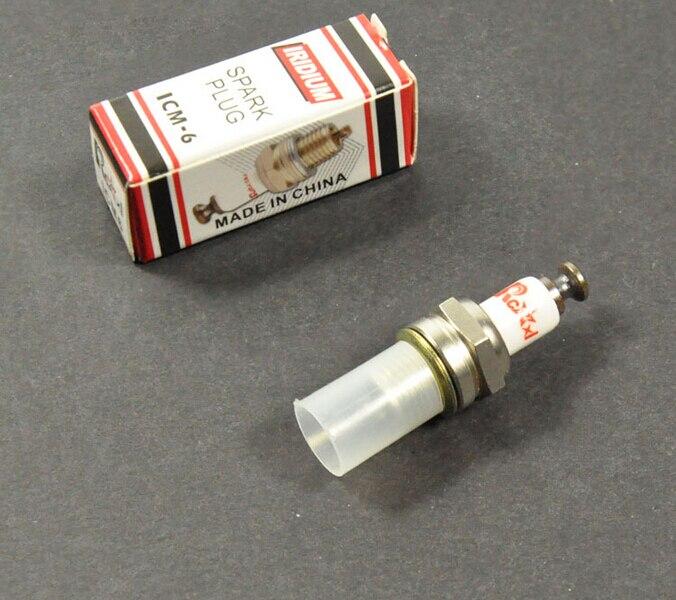 Rcexl ICM-6 10mm CM6 Iridium Spark Plug For DA DLE Gas Engine iridium spark plugs 4 pack