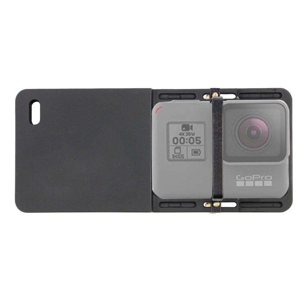 Cámara de Acción Gopro accesorios de interruptor placa de montaje del adaptador para GoPro hero 6/5/4 Zhiyun Suave 4 DJI Osmo mobile 2 cardán
