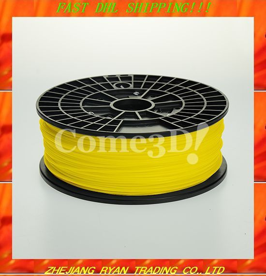 Free DHL shipping 3D Printer ABS FILAMENT Consumable supplies 1.75MM 1KG printer Material for makerbot/reprap/form1