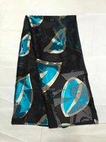 Seta e rayon tessuto per il vestito della signora alla moda di seta di burnout tessuto Africano tessuto di seta burnout tessuto 140 cm 5 metri/lot LL0778