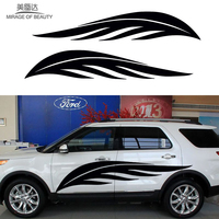 2 X Happy Leisure Theme Fluttering Feathers Fly Freely Art Car Sticker for Truck Trailer RV SUV Kayak Canoe Vinyl Decal