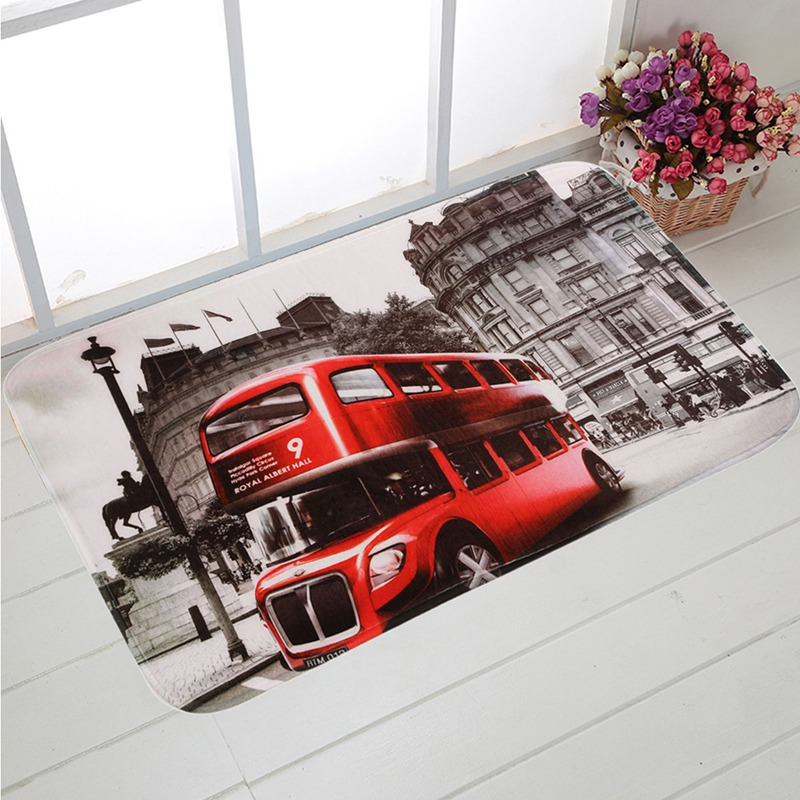3PCs set Bathroom Non Slip Mat Soft Red Bus Rug   Lid Toilet Cover. Online Get Cheap Red Bathroom Rug Sets  Aliexpress com   Alibaba Group