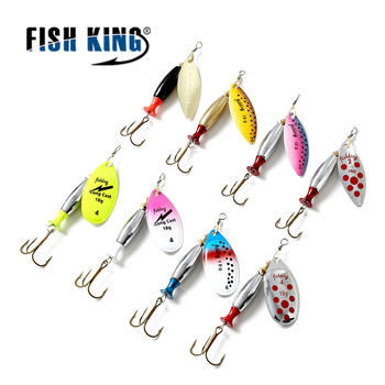 FISH KING Mepps 18g Spinners Spoon Bait Esche Artificiali Pesca Spinning Fishing Lure Fishing Tackle Spoon Length 9.5CM Рыбная ловля