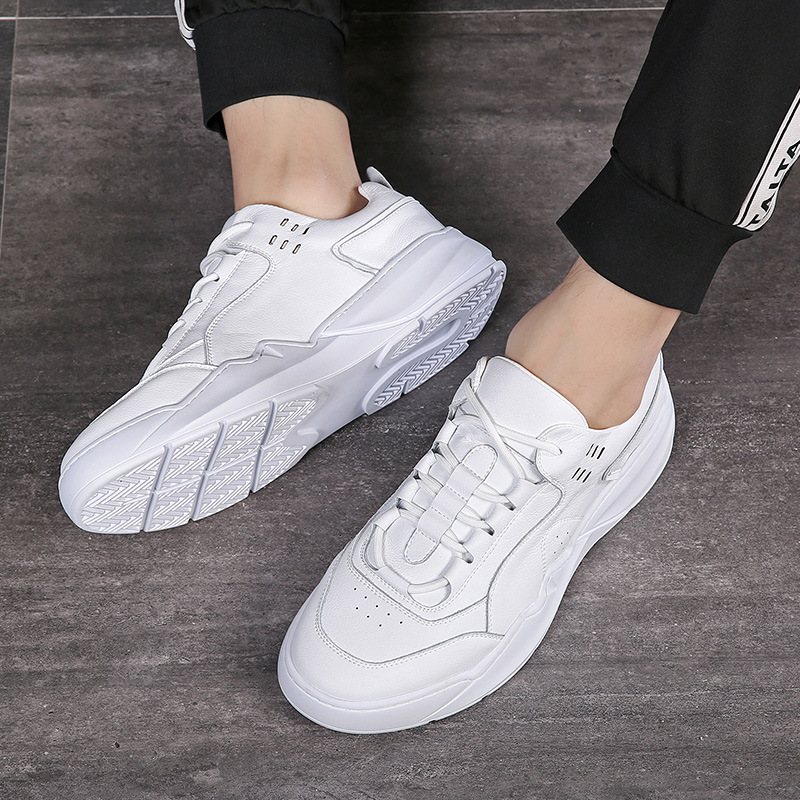 Genuine Leather Shoes Men Sneakers White Sneakers Cool Young Man Casual Shoes Cow Leather Male Footwear KA1499