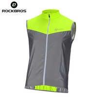 Chaleco de seguridad reflectante ROCKBROS Chaleco de Ciclismo sin mangas chaqueta a prueba de viento ropa de bicicleta Jersey abrigo Chaleco Ciclismo