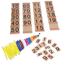 Wooden Math Intelligence Sticks Figures Kids Preschool Educational Early Childhood Education Training Toys Gift