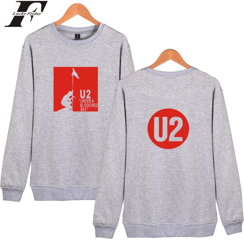 Luckyfridayf U2 мужские Harajuku пуловер Толстовка и Rocky группа U2 K Поп женщин монолитным hoodys одежда Лидер продаж Толстовки