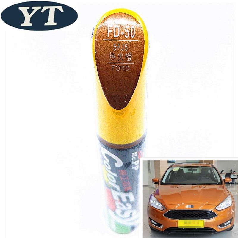 Car Scratch Repair Pen, Auto Paint Pen ORANGE Color For Ford Ecosport,kuga, Focus,s-max,fiesta ,car Painting Pen