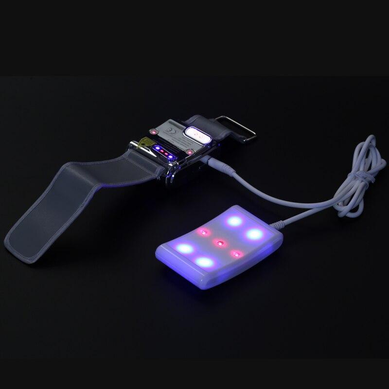Brand New ATANG 2 di colore blu e la luce rossa medico orologio da polso di Pressione Sanguigna/Zucchero Andato Terapia Laser Orologio con di Alta Qualit