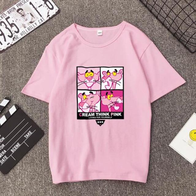 High Quality T shirt Woman Spring Summer Fashion Print Short Sleeve Round Neck Women Tops Casual Loose T-shirt Femme  3