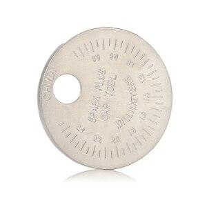 Image 4 - 1 piezas bujias de encendido bujía herramienta de calibre herramienta de medición moneda tipo 0,6 2,4mm de spark plug manómetro de herramienta Gage 4 unids lote china antorcha iridium bujías de platino