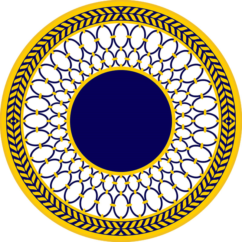 Mysterious decoration carpet , Mandala style round shaped ground mat , non-slip simple style chair mat ,floor carpet
