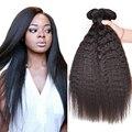 Alionly Kinky Straight Hair Weave Top 8a Unprocessed Malaysian Virgin Hair Kinky Straight 4 Bundles Afro Kinky Human Hair Weave