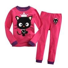 Купить с кэшбэком baby girl clothes Children's clothing girls baby cartoon girl princess style home service fashion pajamas set