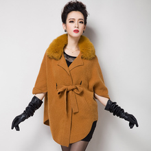 New Europe women pure mink cashmere sweater cardigan coat fox fur mink fur coat